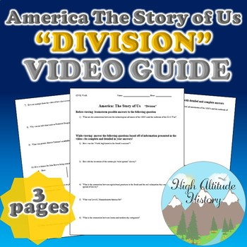 "America Story of US ""Division"" Original Video Guide Questions"