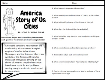 "America Story of Us: ""Cities"" -  Complete Video Guide"