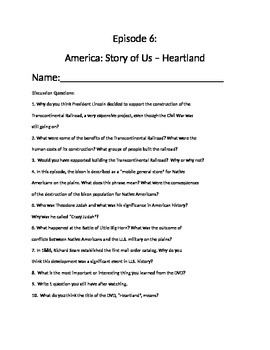 America Story of Us Episode 6 Heartland and Primary Source