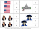 American Symbols, Counting to 20, Count and Clip Cards,Task Cards, Math Centers