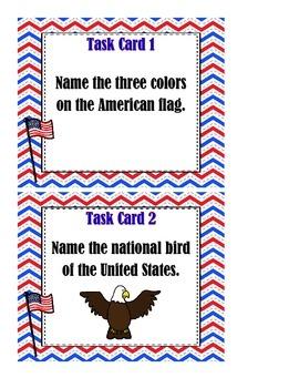 America Task Cards