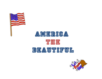 America The Beautiful!  A wonderful combination of music and art!