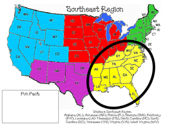 America, The Beautiful! All about the Five Region of the United States
