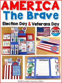 Veterans Day, America, & Voting - Social Studies Interactive Activities