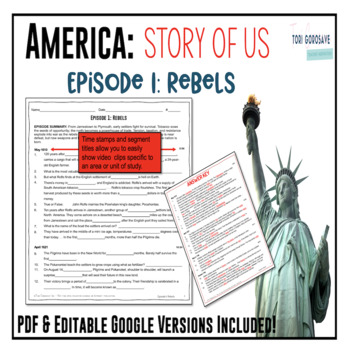 america the story of us episode 1 rebels tpt. Black Bedroom Furniture Sets. Home Design Ideas