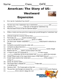 America The Story of US Westward Expansion Questions