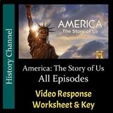 America The Story of Us - All 12 Episodes Bundle - Worksheets/Keys - PDF/Digital
