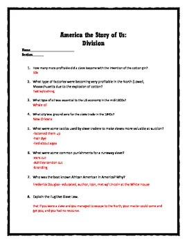 America: The Story of Us -- Division