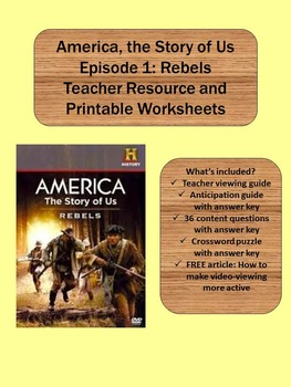 america the story of us episode 1 rebels activities tpt. Black Bedroom Furniture Sets. Home Design Ideas