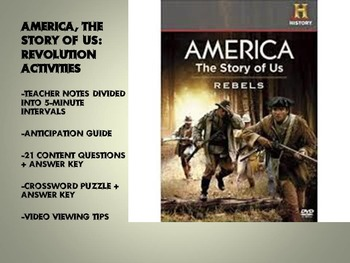 "America, The Story of Us Episode 2 ""Revolution"" Activities"