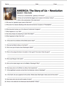 America: The Story of Us Episode 2 Revolution Video Guide + Video Web ilnk & Key