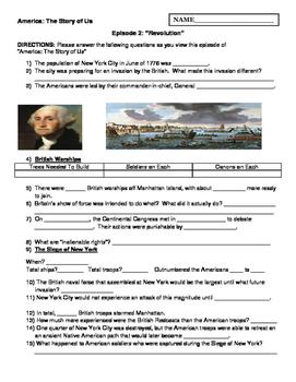 "America: The Story of Us (Episode 2- ""Revolution"") Worksheet"