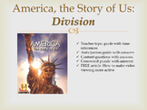 """America, The Story of Us Episode 4 """"Division"""" Worksheets and Activities"""