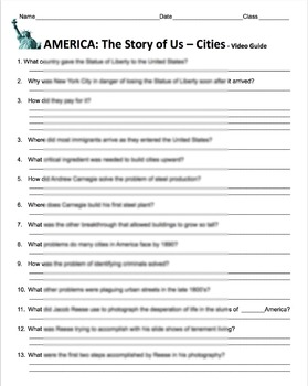"""America: The Story of Us Episode 7– """"Cities"""" Video Guide & Weblink"""