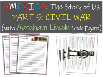 America: The Story of Us PART 5: CIVIL WAR w Abraham Lincoln stick figure