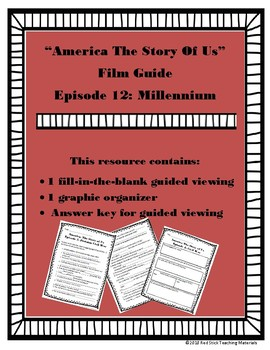 America: The Story of Us Viewing Guide--Episode 12 Millennium (NO PREP)