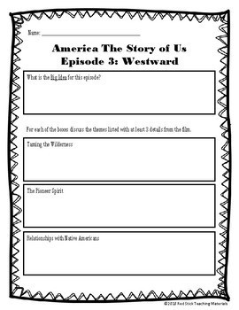 America: The Story of Us Viewing Guide Growing Bundle (NO PREP)