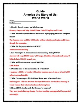America: The Story of Us -- World War II