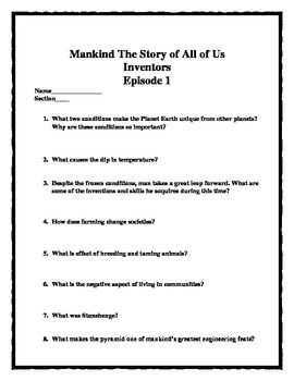 America: The Story of Us and Mankind: The Story of All of Us--DOUBLE PLAY BUNDLE