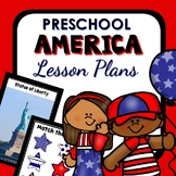 America Theme Preschool Lesson Plans-4th of July USA Activities