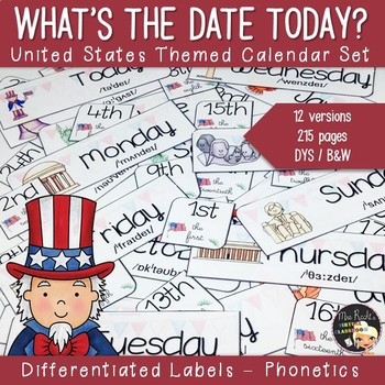 America Themed Calendar