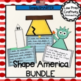 American Symbols Themed Cut and Paste Shape Math Craftivities Bundle