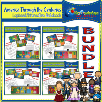 America Through the Centuries Lapbook / Interactive Notebook BUNDLE