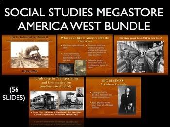 America West - Native Americans - Cowboys - Progressive Era US History Bundle