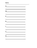 America Write the Room center acrostic