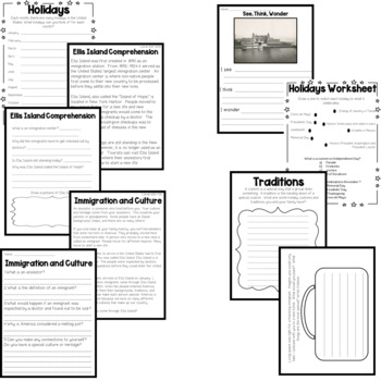 America and Immigration Pack {{Social Studies Unit}}