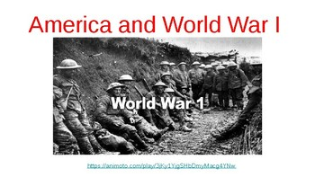 America and World War I Presentation