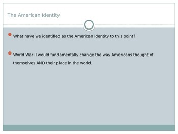 America and World War II Lecture