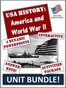 America and World War Two - 85+ Pages/Slides of Learning Resources!