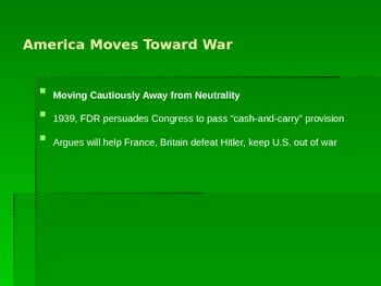 America and a world at war