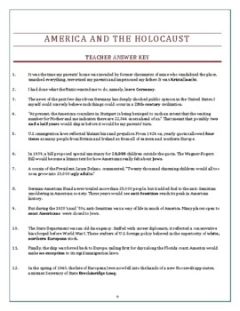 America and the Holocaust: Video Viewing Fill-in Worksheet