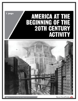America at the Beginning of the 20th Century Activity