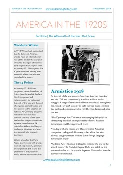America in the 1920s Part One