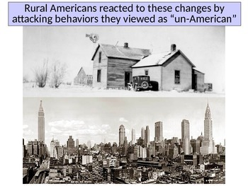 America in the 1920's Prohibition Religion and Intolerance PowerPoint