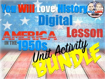 America in the 1950's Google Digital Unit Activity Bundle (ACTIVITIES ONLY)