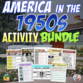 America in the 1950's Unit Activity Bundle (Activities Only)