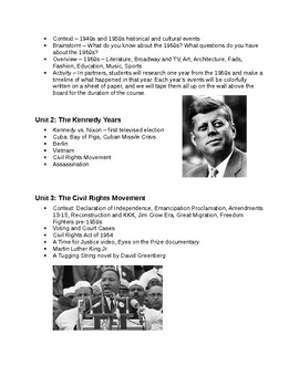America in the 1960s- Syllabus (Updated!)