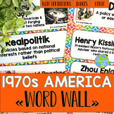 America in the 1970s/Seventies Word Wall