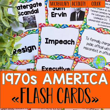 America in the 1970s/Seventies Flash Cards