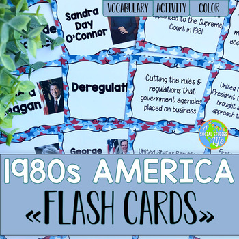 America 1980s to Today Flash Cards