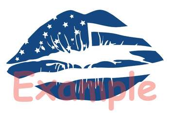 America lips svg 4th of july svg Silhouette SVG  clipart quote shirt 81SV