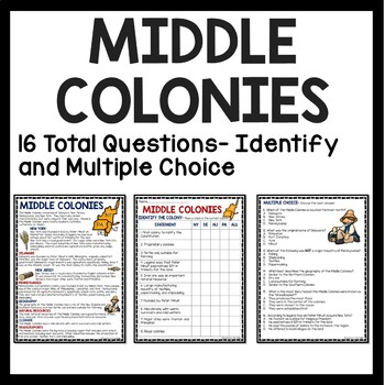 America's 13 Colonies Reading Comprehension, Map, Chart, Questions; U.S. History