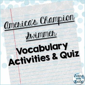 America's Champion Swimmer Vocabulary Set