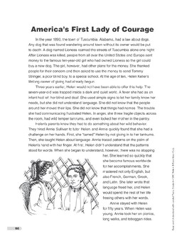 America's First Lady of Courage (Lexile 910)
