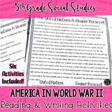 America's Involvement in WWII Reading & Writing Activities