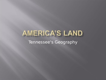 America's Land and Tennessee's Geography
